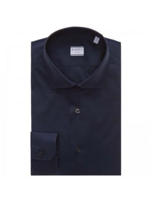 Xacus Permanent  Camicia Blu Popeline Slim Fit