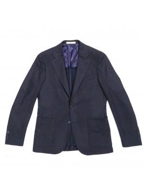 CC Collection Corneliani Giacca Quadro Blu Marrone
