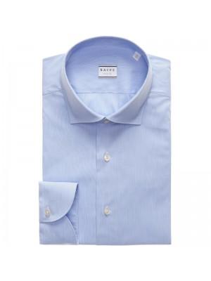 Xacus Permanent Camicia Millerighe Celeste Francesce Tailor