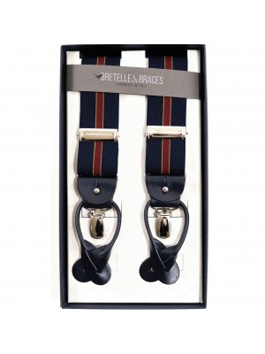 Bretelle & Braces Bretella Blu Bordeaux Regimental