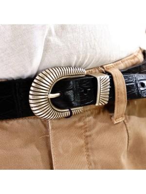 Anderson's Cintura Coccodrillo Opaco Western