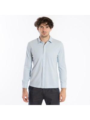 Altea Polo Camicia Connors Crepe Celeste