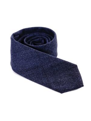 Altea Cravatta Lana Galles in Tinta Blu  7,5 cm