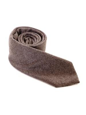 Altea Cravatta Cashmere Unito Marrone 7,5 cm