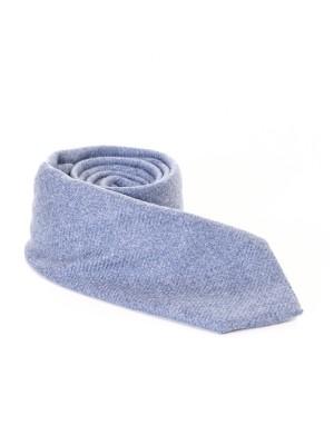 Altea Cravatta Cashmere Unito Azzurro 7,5 cm
