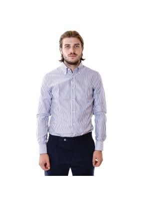 Xacus Camicia Tailor Fit Twill Rigato