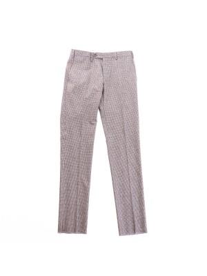 Germano Pantaloni Flanella Cardata Micro Pied-De-Poule