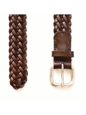 Cintura Intrecciata Pelle Marrone
