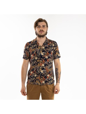 Xacus Heritage Camicia Camp Collar Fiori