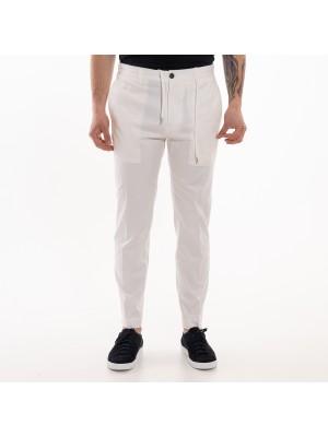 Grifoni Pantaloni Coulisse Slim Bianco