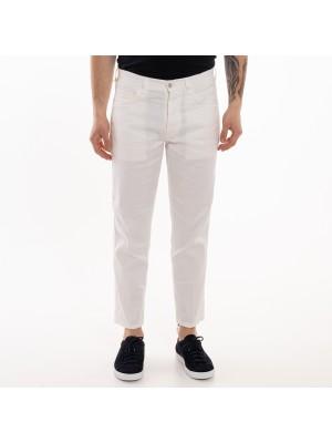 Don The Fuller Pantaloni Jeans Bianchi Seul Lino Cotone