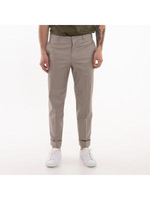 Grifoni Pantaloni Regular Risvolto Tortora