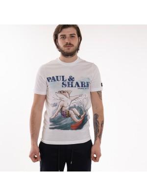 Paul&Shark T-Shirt Stampata Squalo Paul & Shark