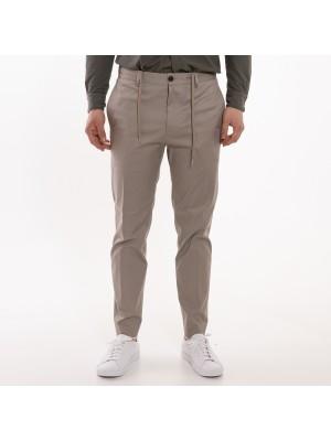 Grifoni Pantaloni Coulisse Slim Tortora