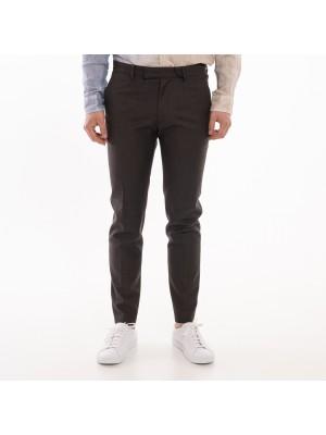 Grifoni Pantaloni Skinny Lana Tech Marrone