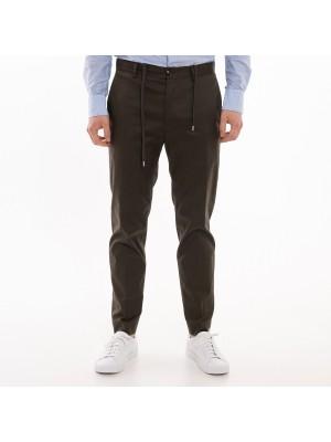 Grifoni Pantaloni Coulisse Slim Verde