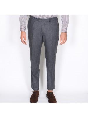Germano Pantaloni Flanella Cardata Grigio Medio
