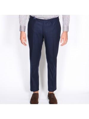Germano Pantaloni Flanella Cardata Blu