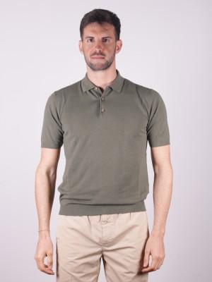 Altea Polo Lino Cotone Verde Militare