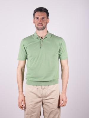 Altea Polo Lino Cotone Verde Menta