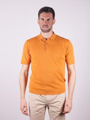 Altea Polo Lino Cotone Arancione