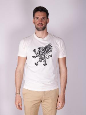 Grifoni T-Shirt Logo Max Taglio Vivo