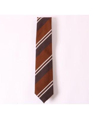 Altea Cravatta Regimental Marrone Grigio