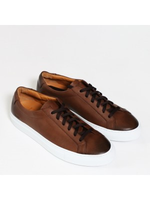 Manifatture Etrusche Sneakers Fondo Cassetta Nappa Marrone