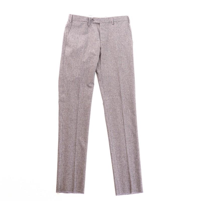 presentazione 50% di sconto qualità stabile Germano Pantaloni Flanella Cardata Micro Pied-De-Poule
